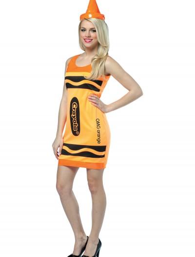 Sexy Neon Orange Crayon Dress, halloween costume (Sexy Neon Orange Crayon Dress)