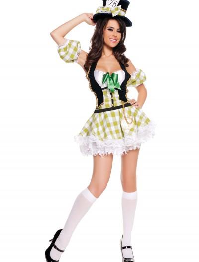 Sexy Plaid Mad Hatter Costume, halloween costume (Sexy Plaid Mad Hatter Costume)