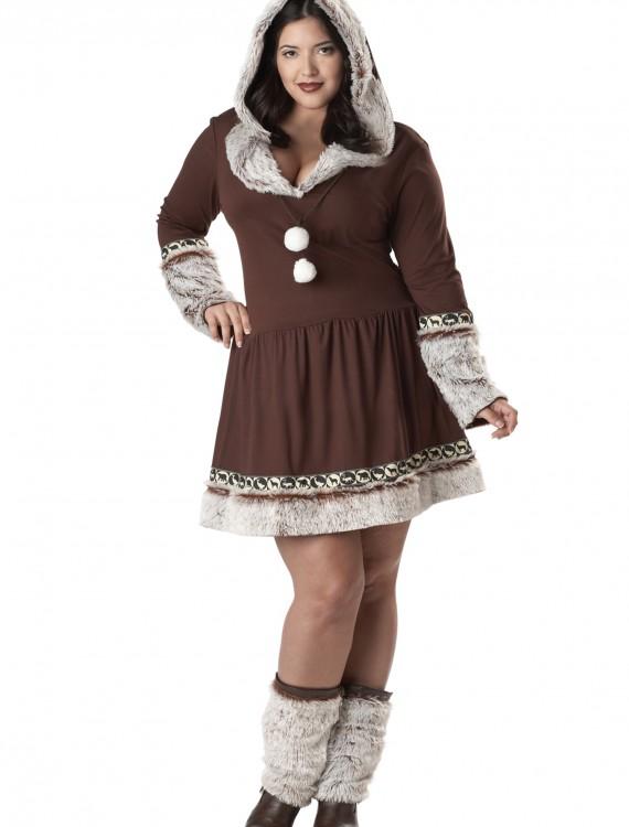 Sexy Plus Size Eskimo Kisses Costume, halloween costume (Sexy Plus Size Eskimo Kisses Costume)