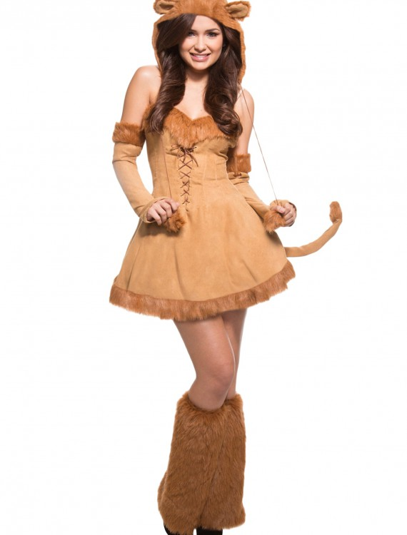 Sexy Plus Size Lion Costume, halloween costume (Sexy Plus Size Lion Costume)