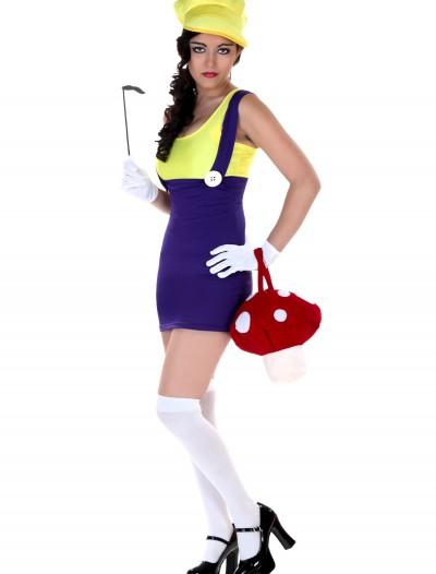 Sexy Plus Size Purple Plumber Costume, halloween costume (Sexy Plus Size Purple Plumber Costume)