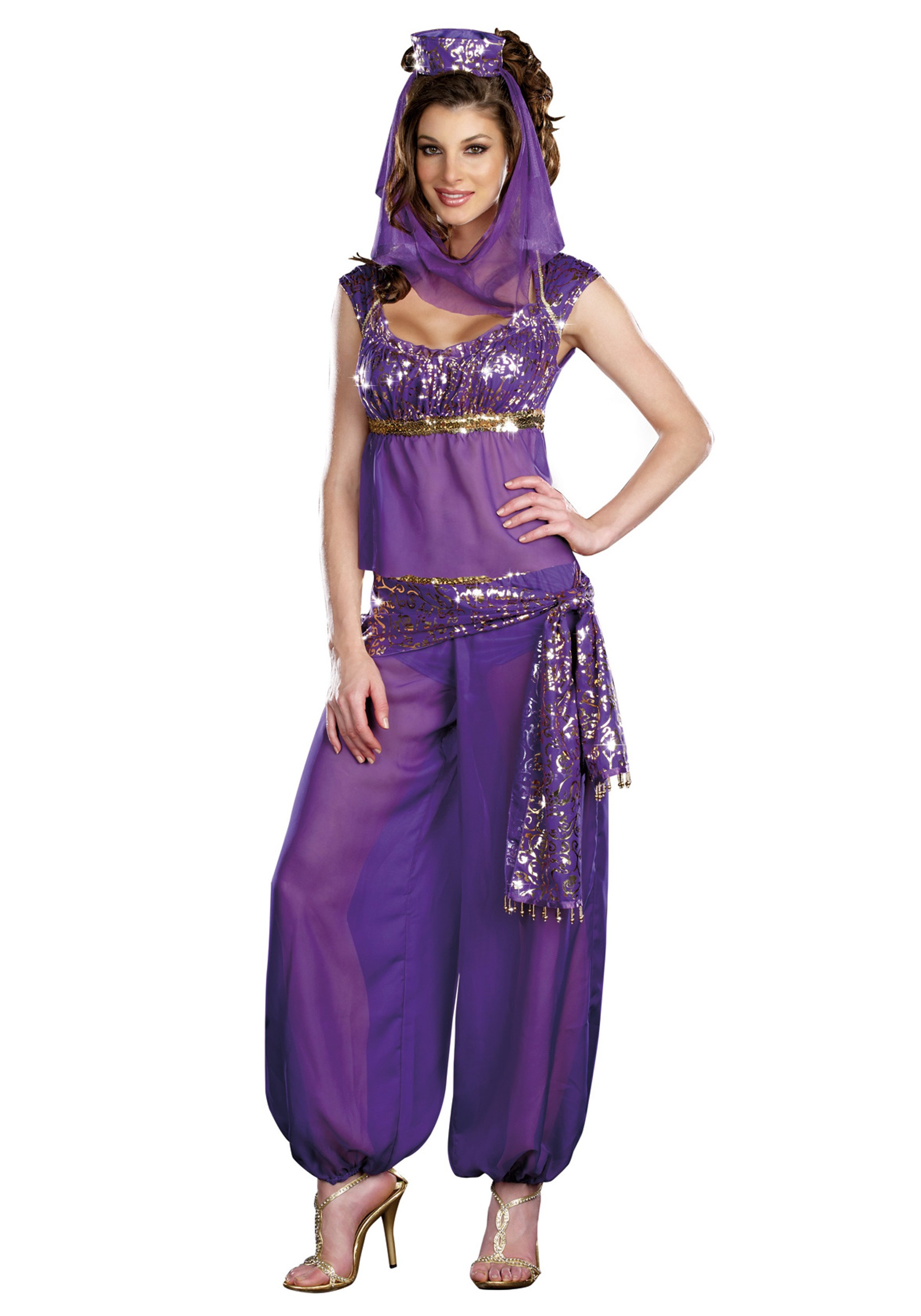 Sexy Purple Genie Costume  sc 1 st  Halloween Costumes & Sexy Purple Genie Costume - Halloween Costumes