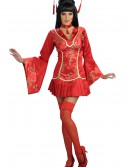 Sexy Red Ginger Geisha Costume, halloween costume (Sexy Red Ginger Geisha Costume)