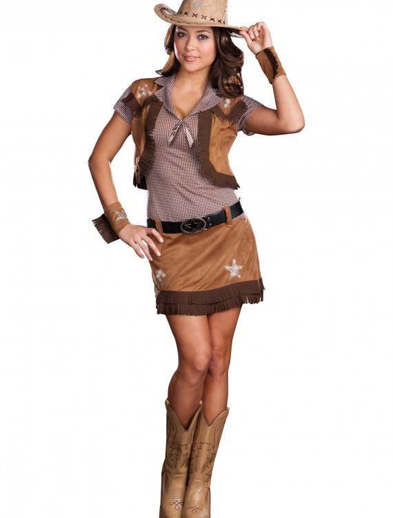 Sexy Rodeo Cowgirl Costume, halloween costume (Sexy Rodeo Cowgirl Costume)