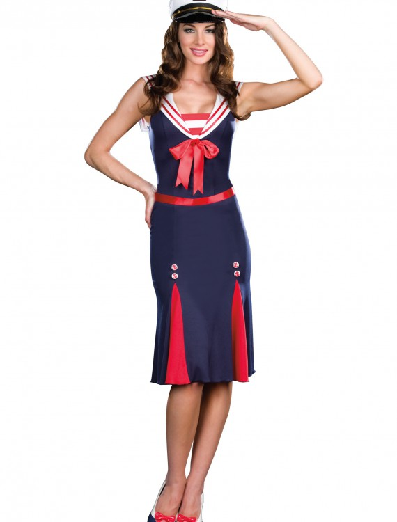 Sexy Sailor Sweetheart Costume, halloween costume (Sexy Sailor Sweetheart Costume)
