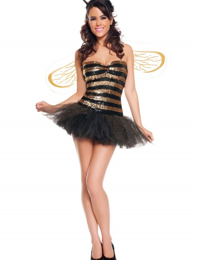 Sexy Sequins Bee Costume, halloween costume (Sexy Sequins Bee Costume)