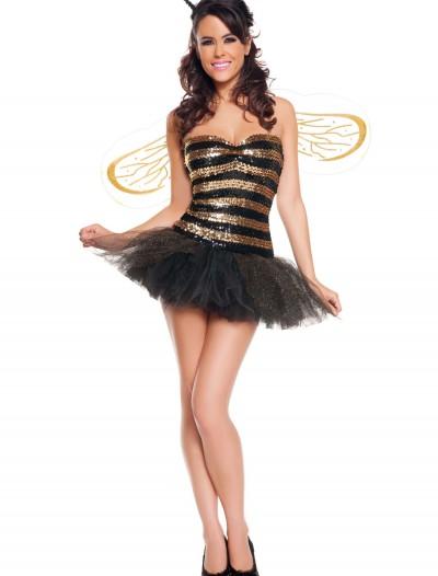 Sexy Sequins Bee Costume, halloween costume (Sexy Sequins Bee Costume)