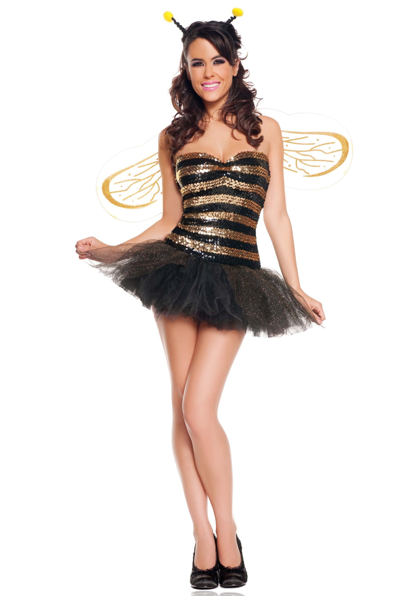Sexy Sequins Bee Costume  sc 1 st  Halloween Costumes & Sexy Sequins Bee Costume - Halloween Costumes