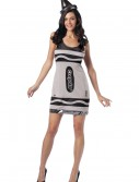 Sexy Silver Crayon Costume, halloween costume (Sexy Silver Crayon Costume)