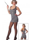 Sexy Silver Lindy Lace Flapper Costume, halloween costume (Sexy Silver Lindy Lace Flapper Costume)