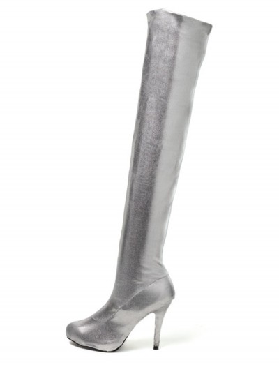 Sexy Tall Silver Boots, halloween costume (Sexy Tall Silver Boots)