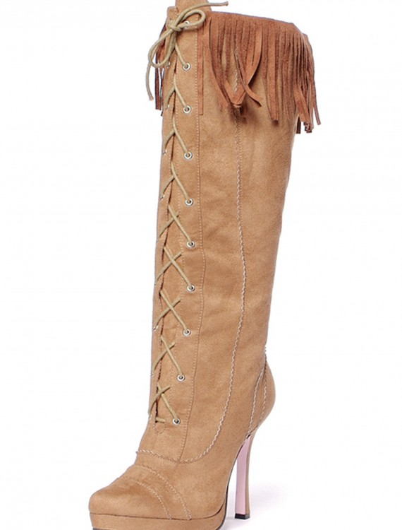 Sexy Suede Fringe Boots, halloween costume (Sexy Suede Fringe Boots)