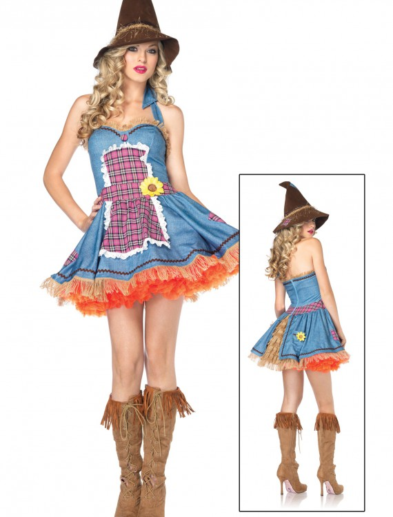 Sexy Sunflower Scarecrow Costume, halloween costume (Sexy Sunflower Scarecrow Costume)