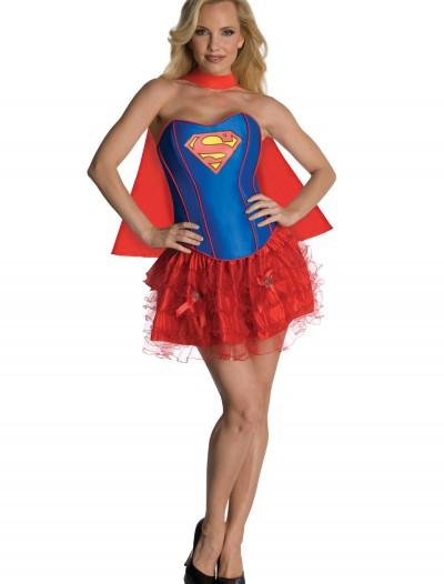 Sexy Supergirl Corset Costume, halloween costume (Sexy Supergirl Corset Costume)