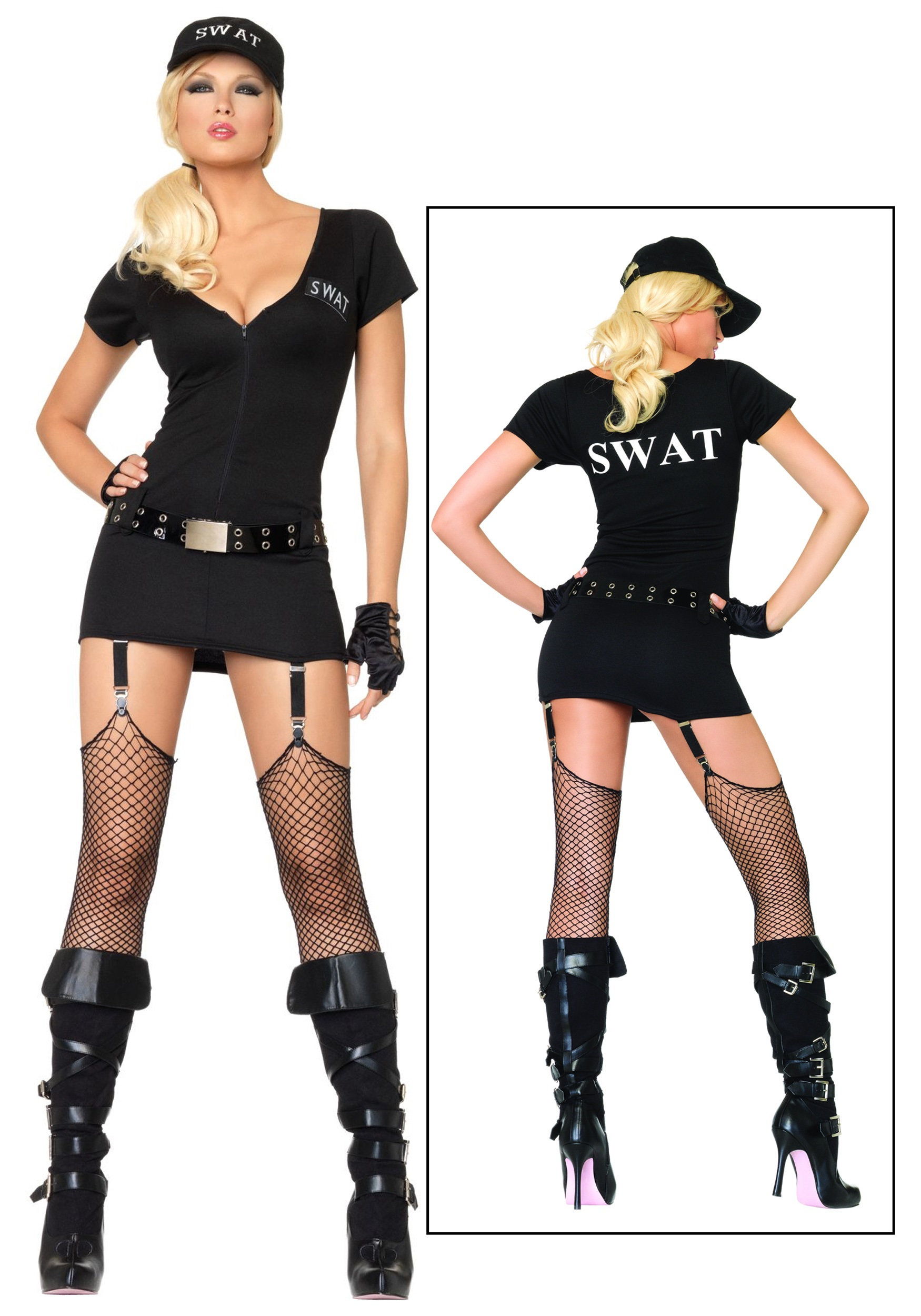 Sexy SWAT Commander Costume  sc 1 st  Halloween Costumes : swat team costume women  - Germanpascual.Com