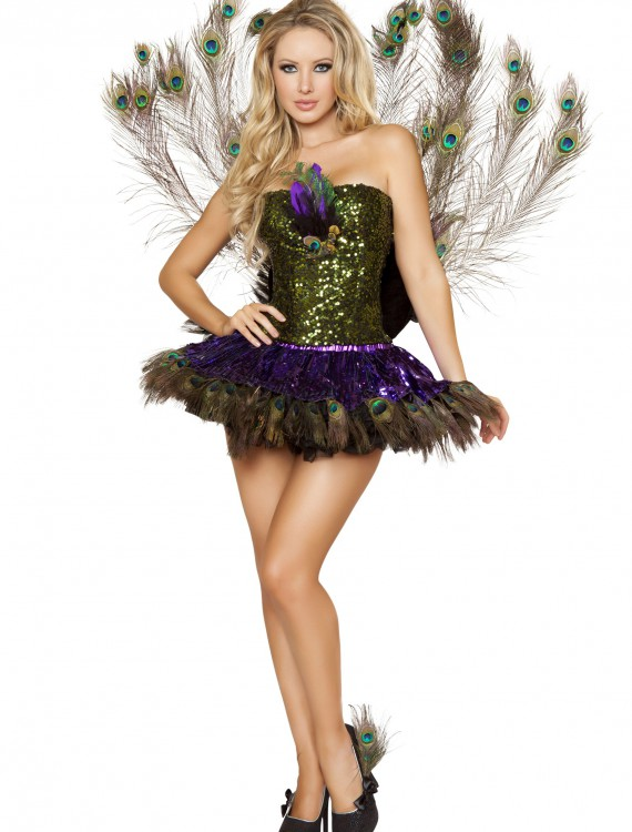 Sexy Tempting Peacock Costume, halloween costume (Sexy Tempting Peacock Costume)