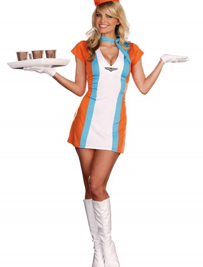 Sexy Vintage Flight Attendant Costume, halloween costume (Sexy Vintage Flight Attendant Costume)