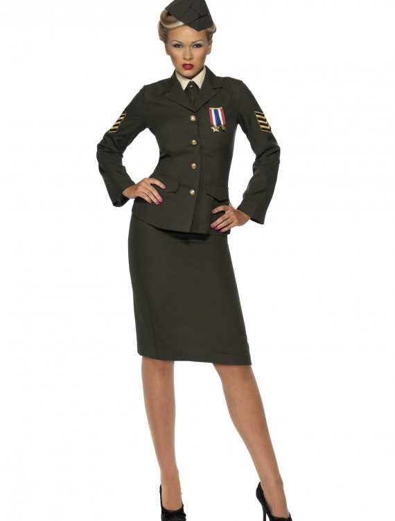 Sexy Wartime Officer Costume, halloween costume (Sexy Wartime Officer Costume)