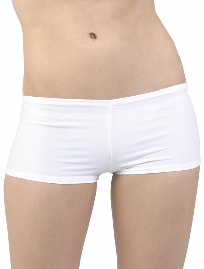 Sexy White Lycra Hot Pants, halloween costume (Sexy White Lycra Hot Pants)