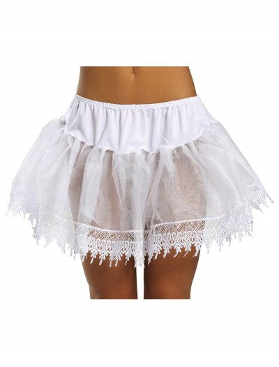 Sexy White Teardrop Petticoat Slip, halloween costume (Sexy White Teardrop Petticoat Slip)