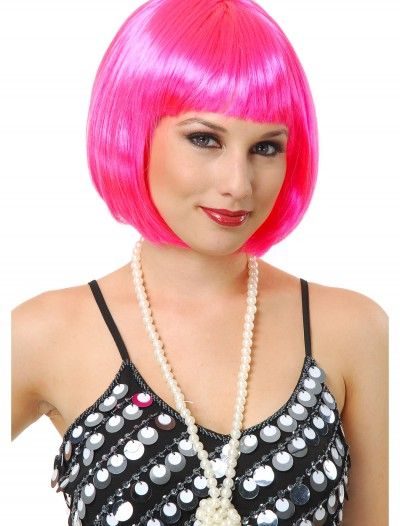 Short Bob Hot Pink Wig, halloween costume (Short Bob Hot Pink Wig)