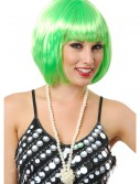 Short Bob Lime Green Wig, halloween costume (Short Bob Lime Green Wig)