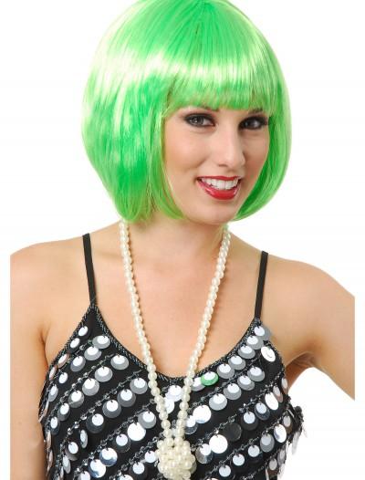 Short Bob Lime Green Wig, halloween costume (Short Bob Lime Green Wig)