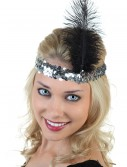 Silver and Black Flapper Headband, halloween costume (Silver and Black Flapper Headband)