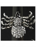 Silver and Crystal Spider Stretch Ring, halloween costume (Silver and Crystal Spider Stretch Ring)