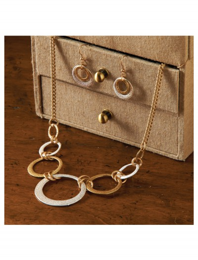 Silver and Gold Hoop Necklace, halloween costume (Silver and Gold Hoop Necklace)