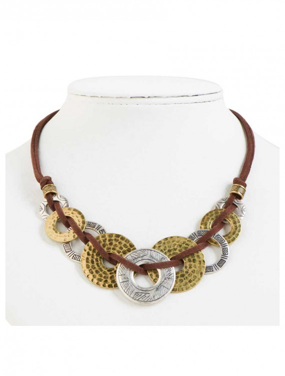 Silver and Gold Loop Necklace, halloween costume (Silver and Gold Loop Necklace)