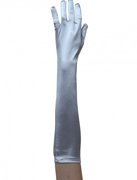 Silver Costume Gloves, halloween costume (Silver Costume Gloves)