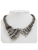 Silver Eagles Wing Necklace, halloween costume (Silver Eagles Wing Necklace)