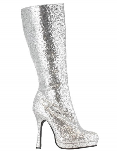 Silver Glitter Boots, halloween costume (Silver Glitter Boots)