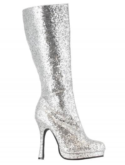 Silver Glitter Boots, halloween costume (Silver Glitter Boots)