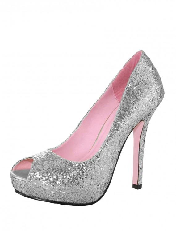 Silver Glitter Heels, halloween costume (Silver Glitter Heels)