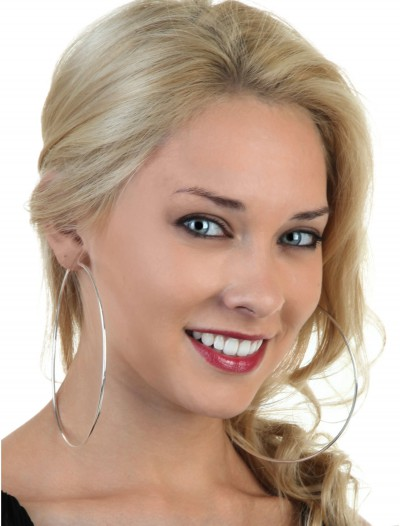 Silver Hoop Earrings, halloween costume (Silver Hoop Earrings)
