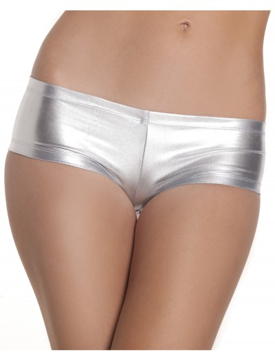 Silver Lycra Boy Shorts, halloween costume (Silver Lycra Boy Shorts)