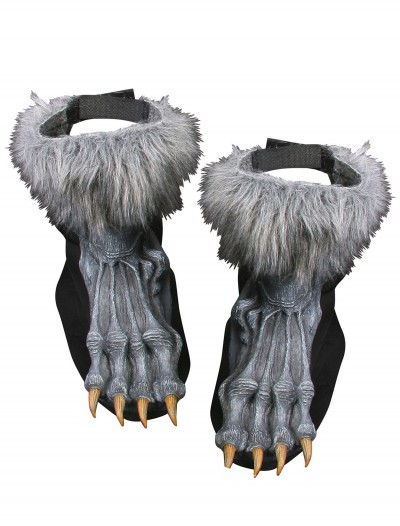 Silver Werewolf Shoe Covers, halloween costume (Silver Werewolf Shoe Covers)