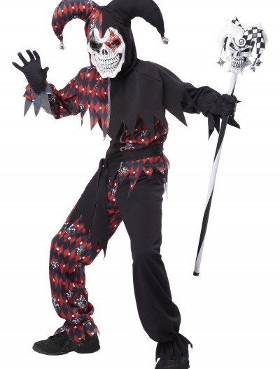 Child's Sinister Jester Costume, halloween costume (Child's Sinister Jester Costume)