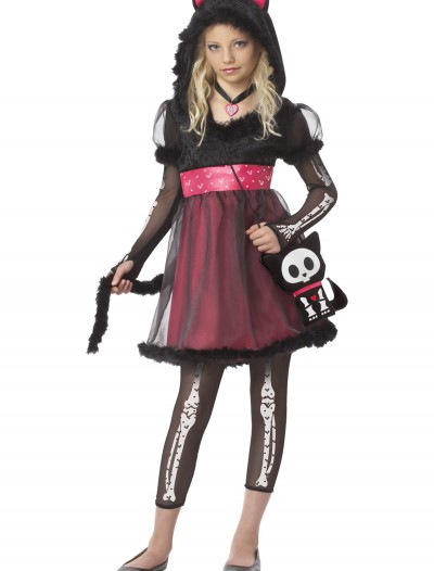 Skelanimals Kit the Kat Costume, halloween costume (Skelanimals Kit the Kat Costume)