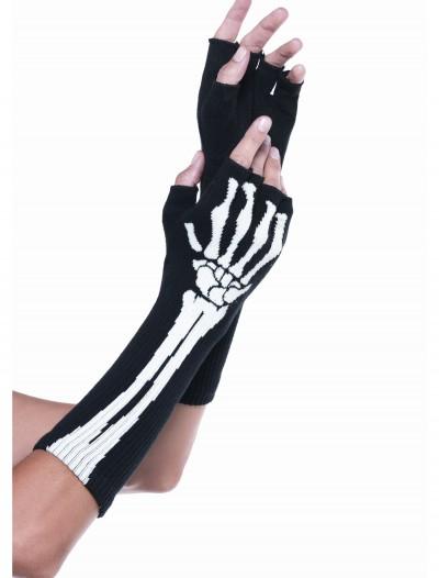 Skeleton Fingerless Gloves, halloween costume (Skeleton Fingerless Gloves)