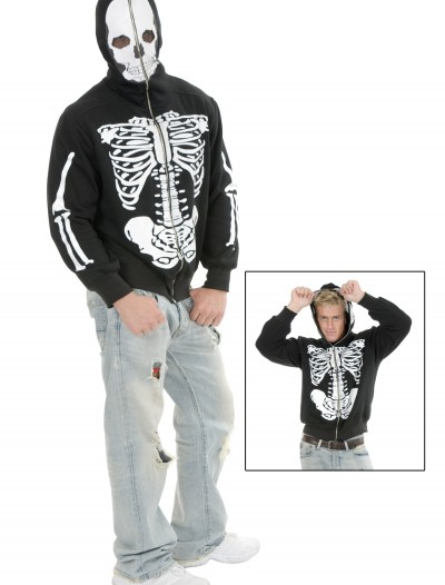 Skeleton Hooded Sweatshirt, halloween costume (Skeleton Hooded Sweatshirt)