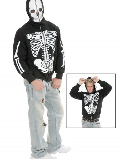 Skeleton Hooded Sweatshirt, halloween costume (Skeleton Hooded Sweatshirt)