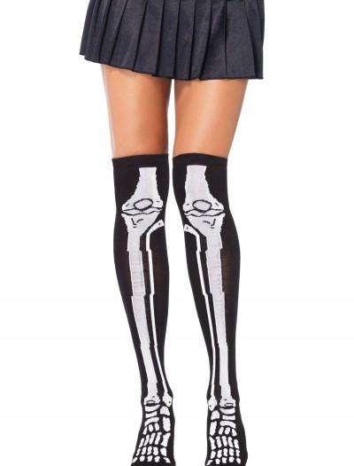 Skeleton Knee High Socks, halloween costume (Skeleton Knee High Socks)