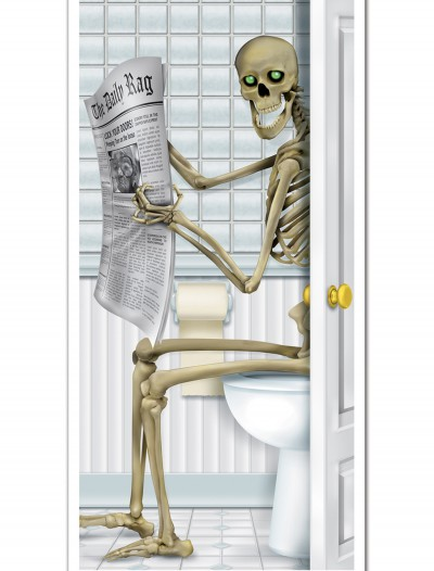 Skeleton Restroom Door Cover, halloween costume (Skeleton Restroom Door Cover)