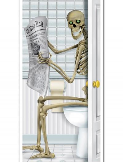 Skeleton Restroom Door Cover, halloween costume (Skeleton Restroom Door Cover)