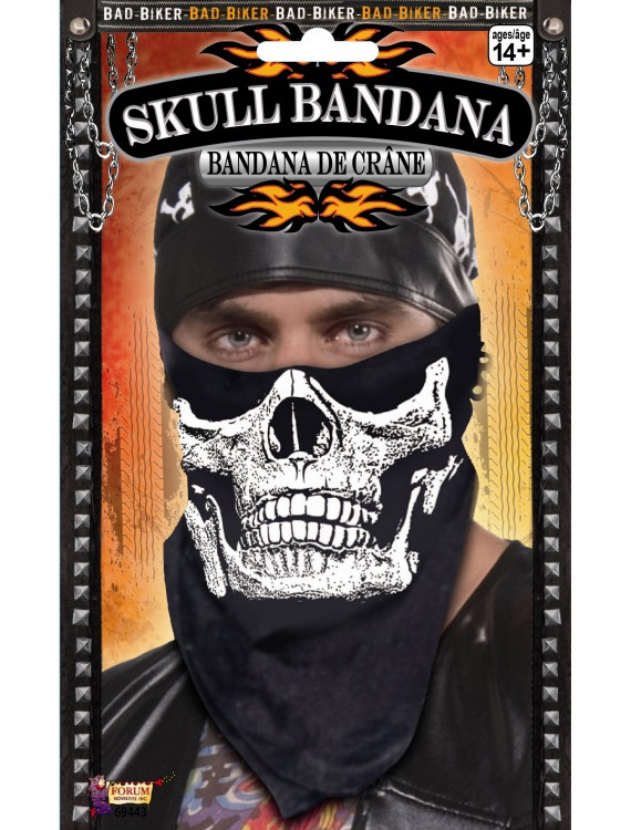 Skull Face Biker Bandana, halloween costume (Skull Face Biker Bandana)