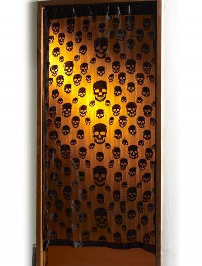 Skull Window Curtain, halloween costume (Skull Window Curtain)