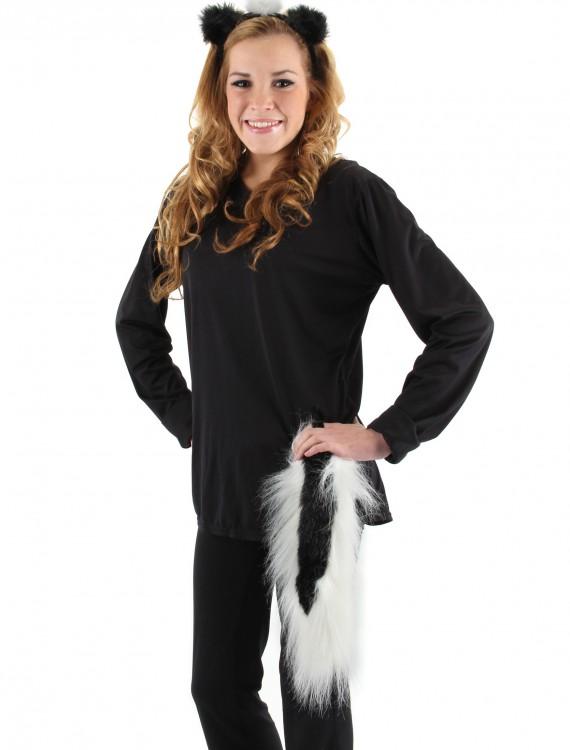 Skunk Ears & Tail Set, halloween costume (Skunk Ears & Tail Set)